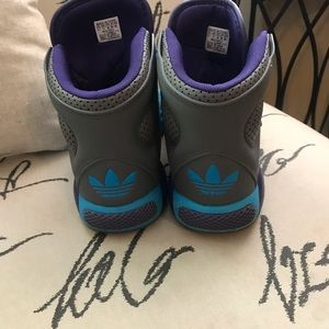 adidas Shoes - Adidas High Top Sneakers Sz 11.5 Gray Tennis Shoes
